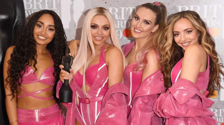 Perrie Edwards, Jesy Nelson, Jade Thirlwall and Leigh-Anne Pinnock of 'Little Mix' in the winners room during The BRIT Awards 2019 held at The O2 Arena on February 20, 2019 in London, England.