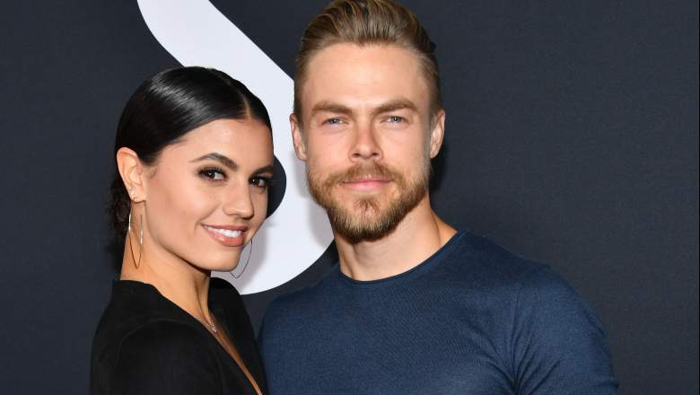 """Hayley Erbert and Derek Hough attend the premiere of 20th Century Fox's """"Ad Astra"""" at The Cinerama Dome on September 18, 2019 in Los Angeles."""