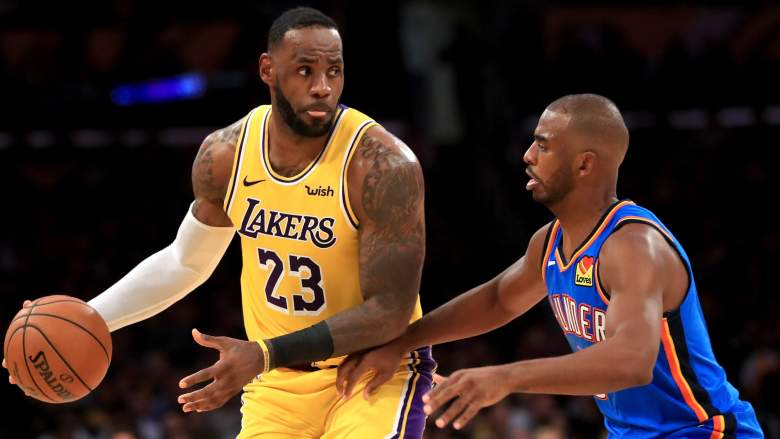 It appears that Chris Paul (right) will never team up with Lakers friend LeBron James (left).