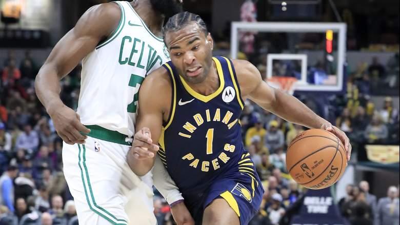 T.J. Warren, Pacers forward and potential Celtics trade target.