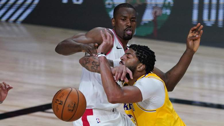 Could the Raptors' Serge Ibaka (left) and the Lakers' Anthony Davis (right) be teammates next year?