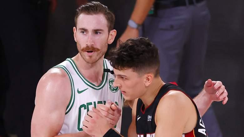 Gordon Hayward of the Celtics (left).
