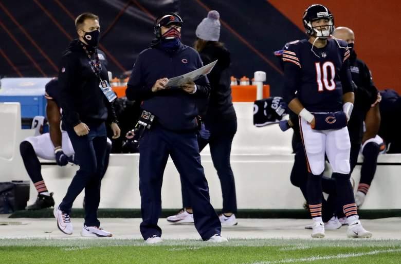 Bears QB Mitch Trubisky coaches