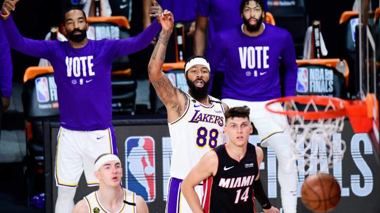 Markieff Morris, No. 88, of the Lakers in the NBA Finals.
