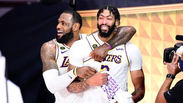 Lakers forward Anthony Davis, right, is expected to become a free agent next week.