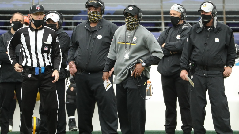 Mike Tomlin with Steelers coaches