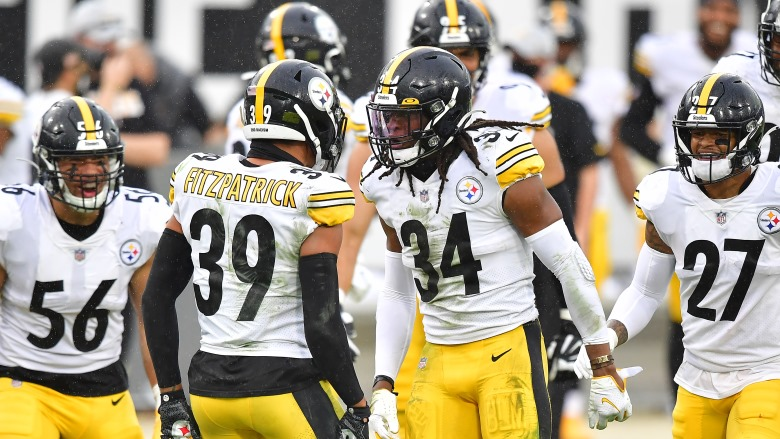 Steelers safeties Terrell Edmunds and Minkah Fitzpatrick