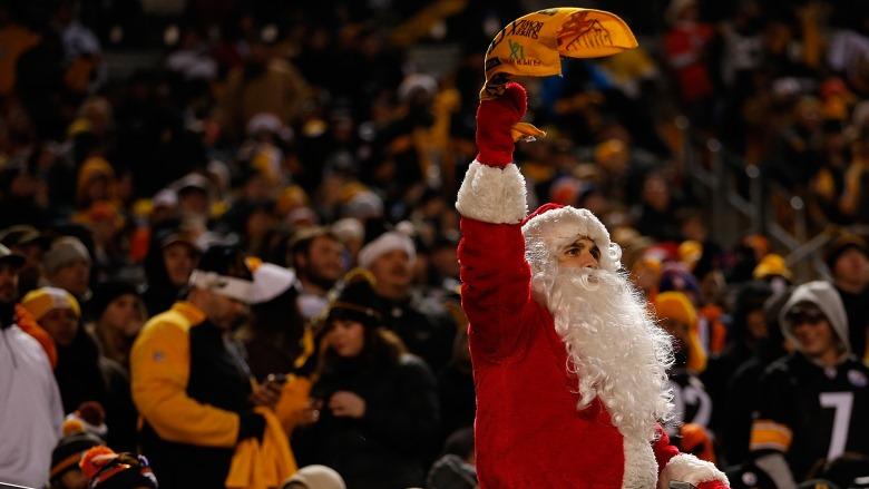 Santa at Heinz Field