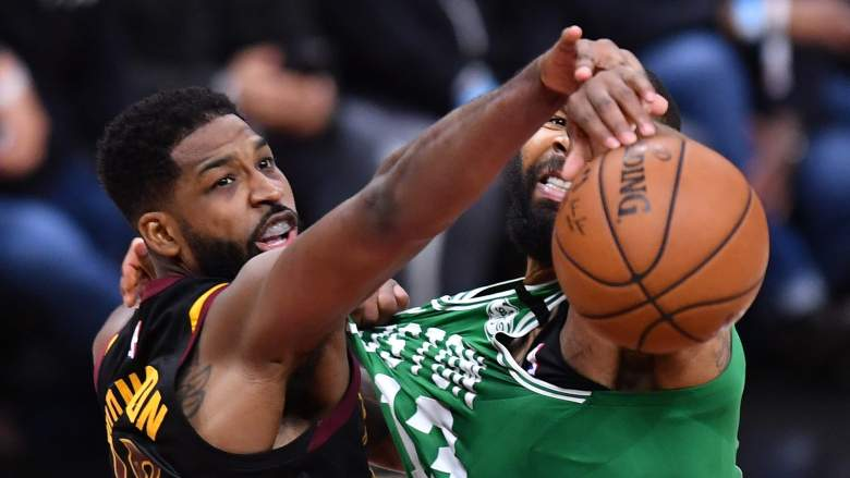 Tristan Thompson, left, will have his own Celtics jersey now.