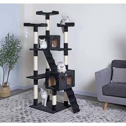 Black cat tree