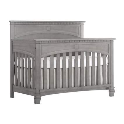gray convertible crib