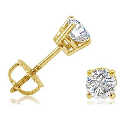half carat diamond stud earrings