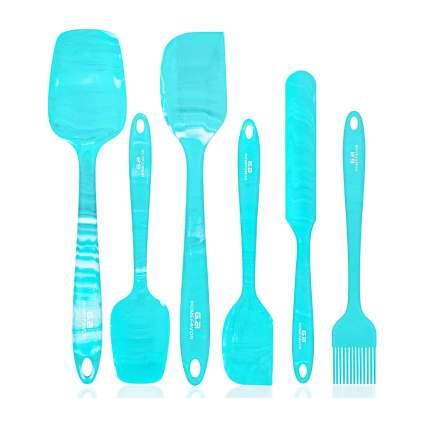 Blue marbel spatulas