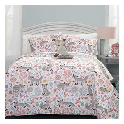 fox print comforter and shams