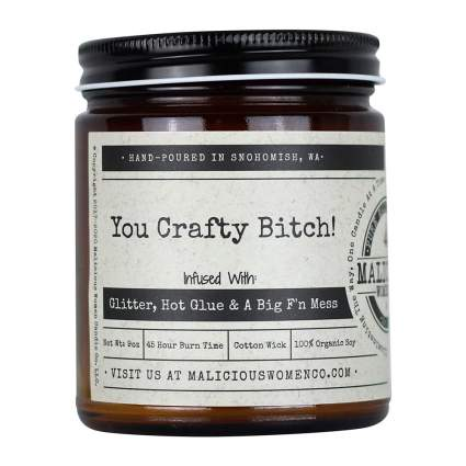 Funny candle for crafters