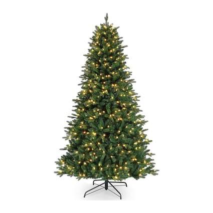Traditonal christmas tree with warm white lights