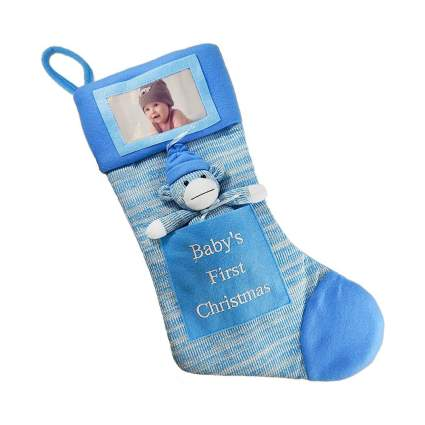 Picture Frame Babys First Christmas Stocking