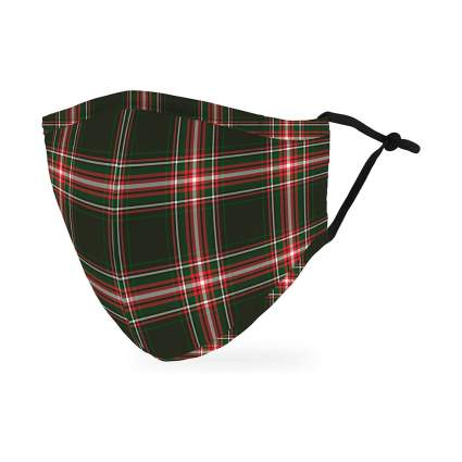 Plaid Holiday Face Mask