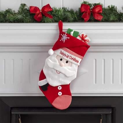 Santa Babys First Christmas Stocking