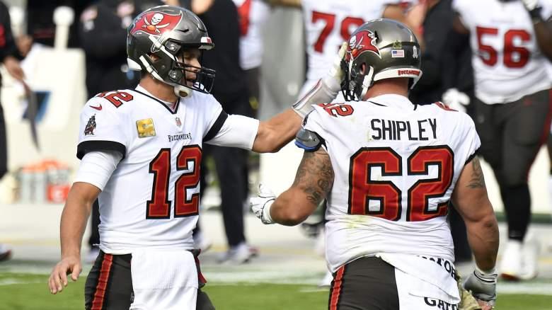 Tom Brady and A.Q. Shipley