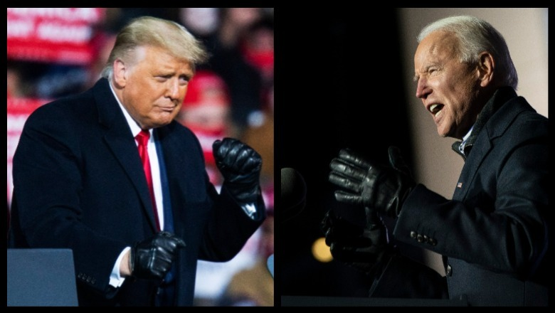 Trump v Biden Fighting by Dwilson