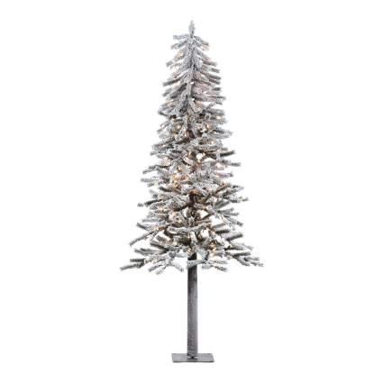 Flocked alpline artificial christmas tree