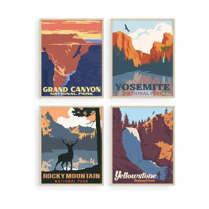 Vintage National Park Posters Set By Haus and Hues
