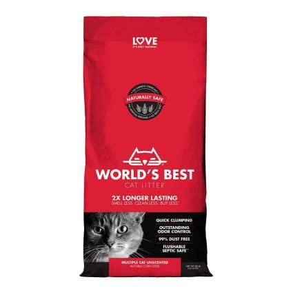 Red bag of cat litter