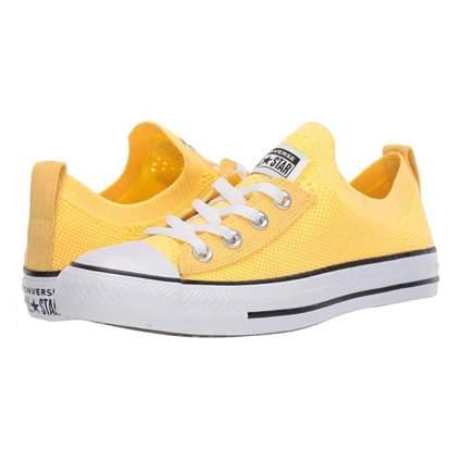 yellow converse chuck taylor slip ons