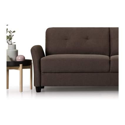 brown modern sofa