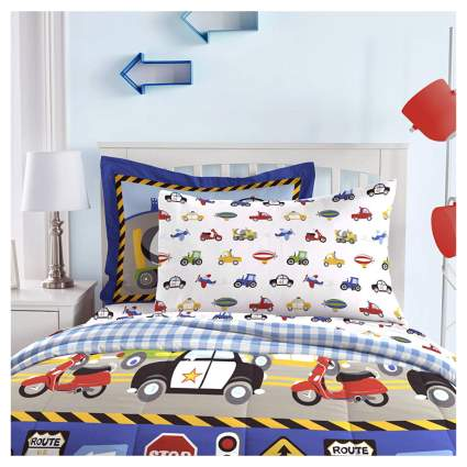 kids cars and trucks bedding set