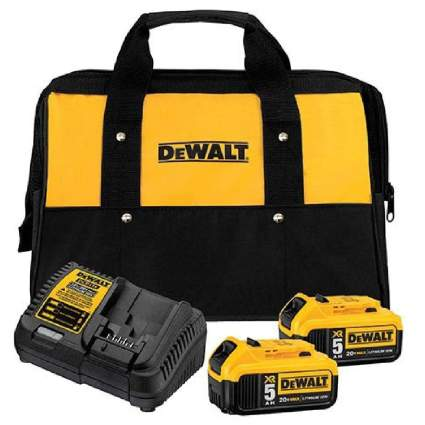 Save $120 on DeWalt 20V MAX 5.0Ah 2-Battery Starter Kit