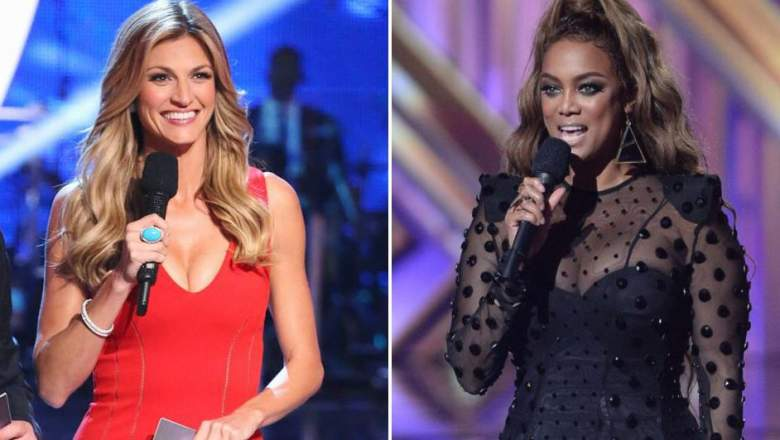 Erin Andrews and Tyra Banks on DWTS