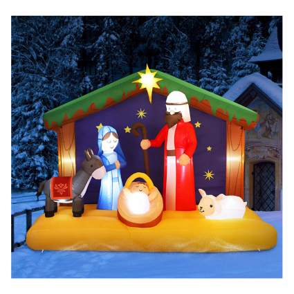 inflatable outdoor nativity set