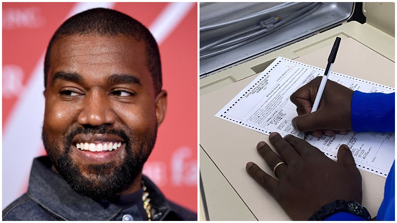 kanye west votes for himself
