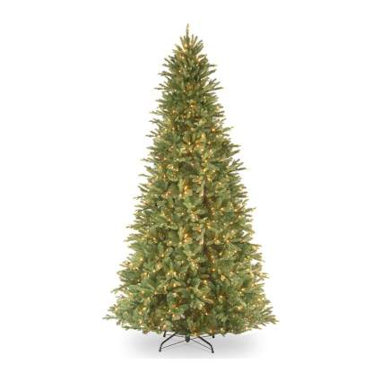 Artifical christmas tree with white lights