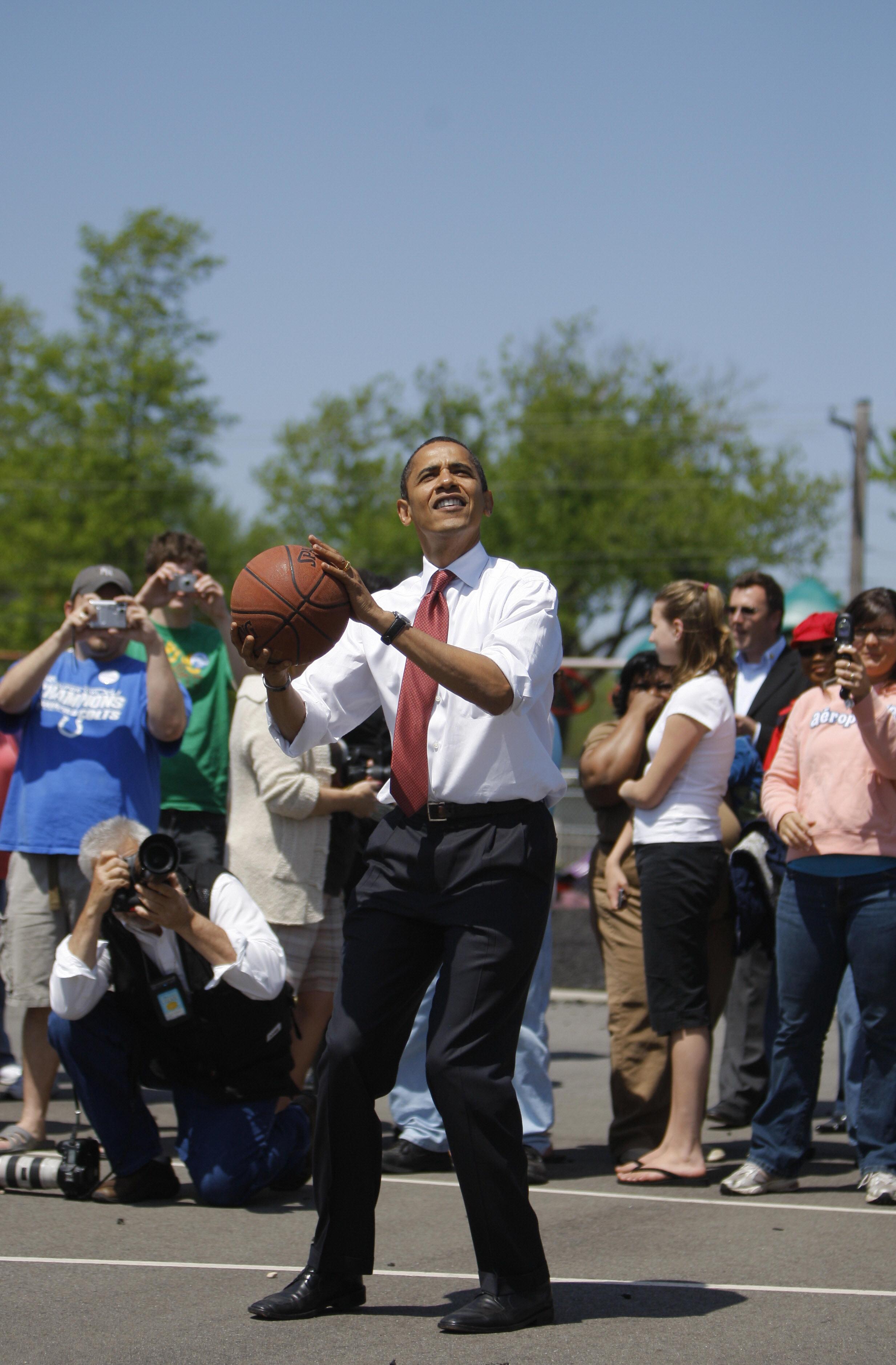 obama basketball skills
