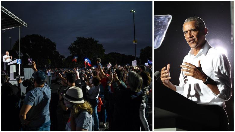 Obama's Miami Rally Crowd Size photos