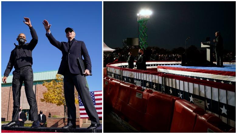 Obama Biden Michigan rally crowd size