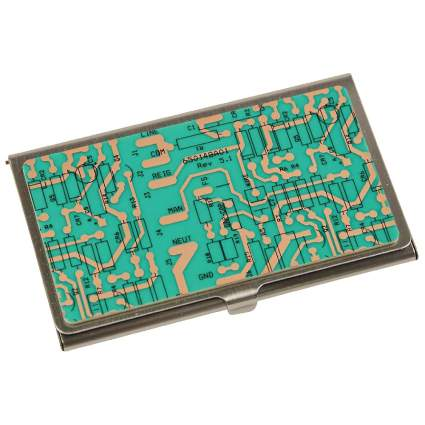 Recycled Circuit Board Business Card Holder