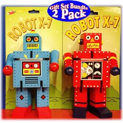 Robot X-7 Bendable Wooden Robots