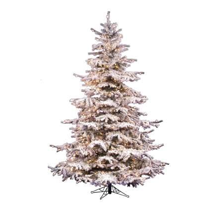 Flocked rustic christmas tree