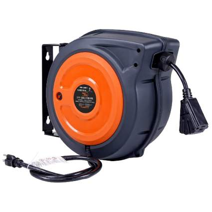 SuperHandy 50-Foot Extension Cord Reel