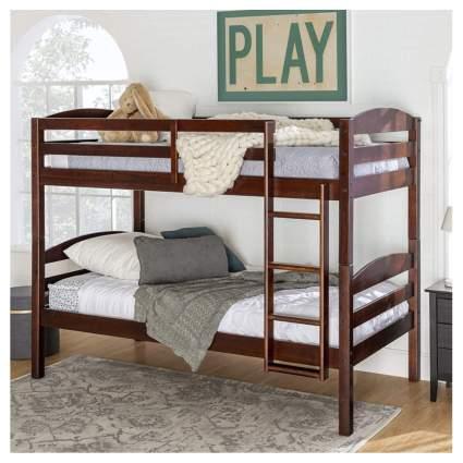walnut twin bunk beds