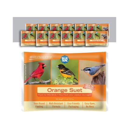 11 Ounce Year Round Premium Orange Bird Suet Cake (12 pack)