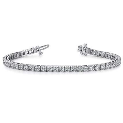 two carat diamond tennis bracelet