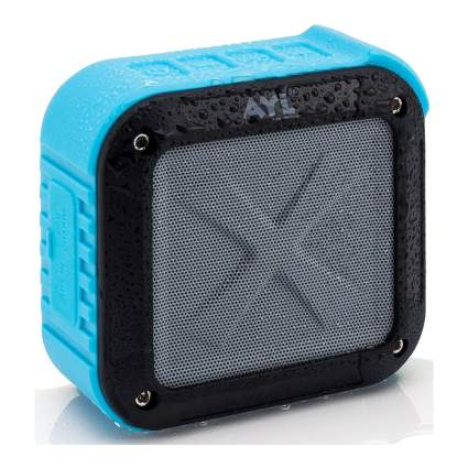 Small blue waterproof speaker