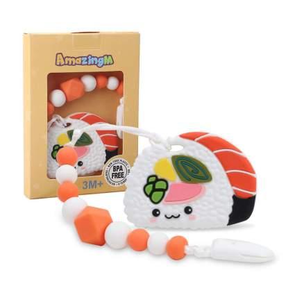 Sushi baby teether