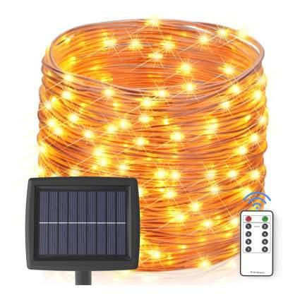 warm white solar string lights