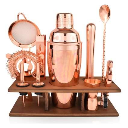 copper barware set